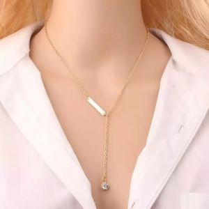 Jewelry - 💕New! Gold dainty long bar chain necklace💕